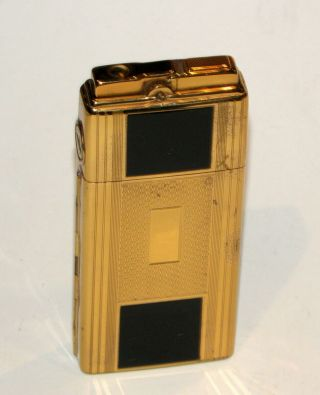 Rare 1930 Art Deco Enamel Ronson Dureum Lytacase Automatic Case Lighter