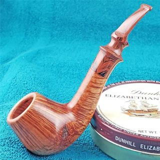Unsmoked Lee Von Erck 360 Straight Grained Cognac Freehand American Estate Pipe