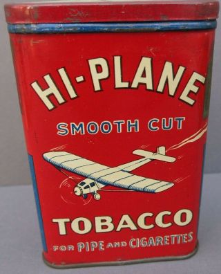 Vintage Hi - Plane Pocket Tobacco Tin - Single Engine