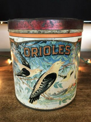 Vintage Rare Cigar Tobacco Advertising Tin Canister – Orioles