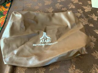 Atari 800 Home Computer Dust Cover Official Vintage Oem Vinyl Pleather