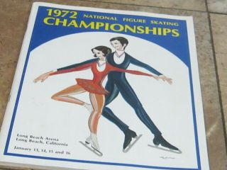 1972 National Figure Skating Championships.  Long Beach,  California.  Program