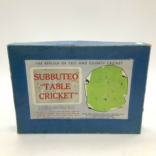 Subbuteo Table Cricket Vintage 1965 Collectable Game With Instructions Th351837