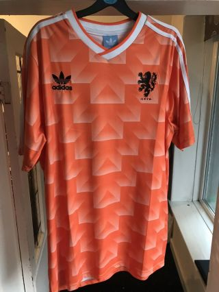 1988 Netherlands Home Football Soccer Shirt Jersey Retro Vintage Holland Size L