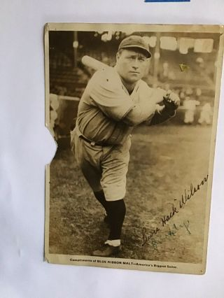 Vintage 1930's Baseball Cards Clippings Scrap Book Hack Wilson
