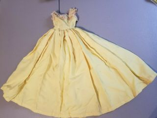 Vintage Madame Alexander Cissy Yellow Doll Dress Tagged