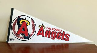 California Angels Halo Team Logo Baseball Pennant - Vintage Mlb - Circa 1980