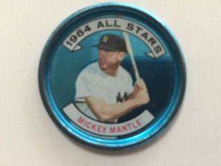 Mickey Mantle 1964 Topps All - Star Coin - Vintage Batting Left