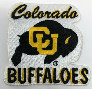 University Of Colorado Cu Buffaloes Buffs Patch (80s - 90s) 3.  75 X 3.  5 Inches