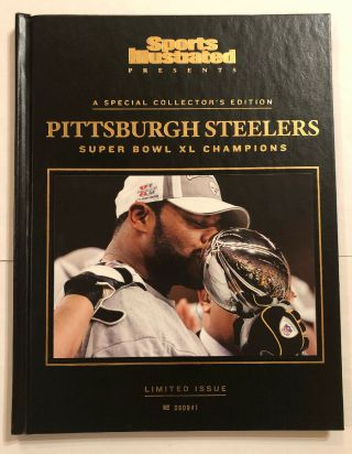 Sports Illustrated Collector's Ed.  Pittsburgh Steelers Bowl Xl Hc Book