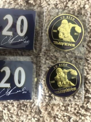 Ed Reed Commemorative Coins Ravens Vs England Game Book