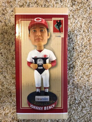 Johnny Bench Cincinnati Reds Hall Of Fame Bobblehead 2018