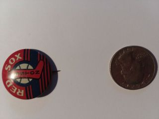 Red Sox Vintage Baseball Team Button Pin