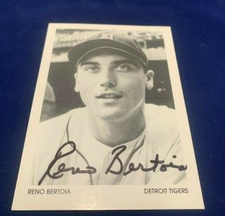 Reno Bertoia Detroit Tigers 3x5 Signed Photo In