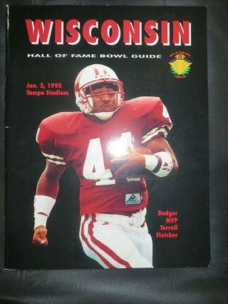 1995 University Of Wisconsin Badgers Football Program Hall Of Fame Bowl