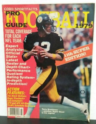 Cord Sportfacts Pro Football Guide 1979 Steelers Terry Bradshaw