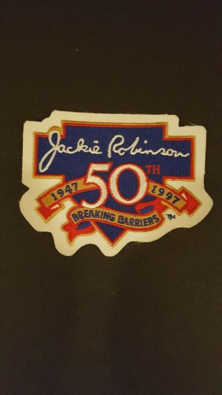 Vintage 1997 Jackie Robinson 50th Anniversary Breaking Barriers Patch