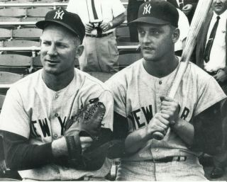 Whitey Ford And Roger Maris 8x10 Photo York Yankees