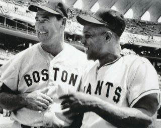 Ted Williams Red Sox And Willie Mays Giants 8x10 Photo 1960 All Star Game