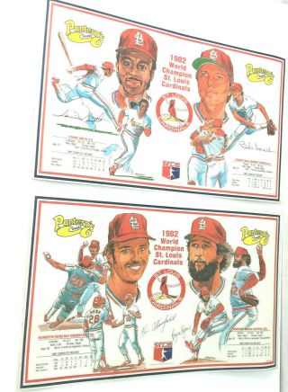 St.  Louis Cardinals 1982 World Champion Placements From Pantera