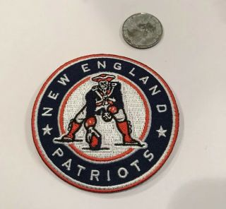 """England Patriots Embroidered Iron On Patch.  Awesome 3""""x 3"""""""