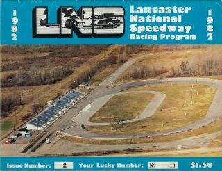 1982 Lancaster National Speedway Modified Program - Issue 2 Db