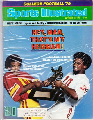 Sports Illustrated September 10,  1979 Billy Sims Oklahoma Charles White Usc Cfb