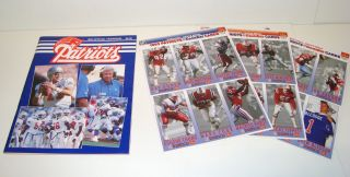 England Patriots Official 1993 Yearbook & Mcdonald