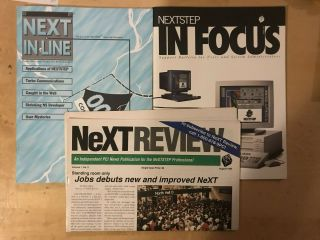 Next In Line,  Next In Focus Next Review 3 For 1 Steve Jobs Next Cube Nextstep