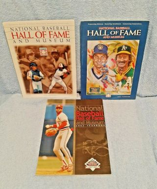 National Baseball Hall Of Fame & Museum 3x Yearbook Lot; 2002,  2003,  2004;