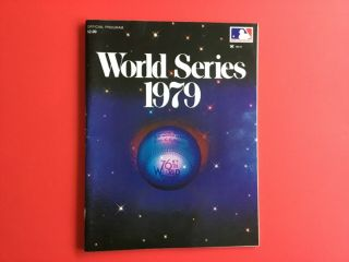 Official 1979 World Series Program (pittsburgh Pirates Vs Baltimore Orioles)
