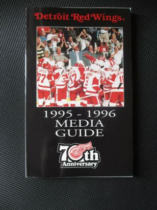 1995 - 96 Detroit Red Wings Media Guide Facts Book