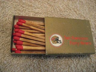 Nfl Sf 49ers Match Box From The 1980