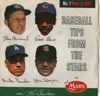 Mars Candy Record How To Bat Baseball Tips From The Stars Stan Musial Erine Bank