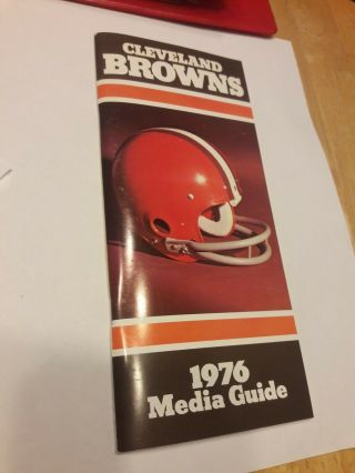 1976 Cleveland Browns Media Guide Yearbook Press Book Program Nfl Football Ad