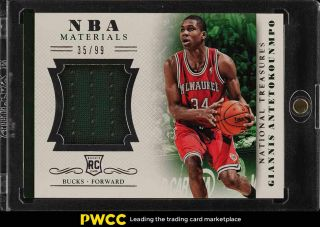 2013 National Treasures Nba Giannis Antetokounmpo Rookie Rc Patch /99 20 (pwcc)