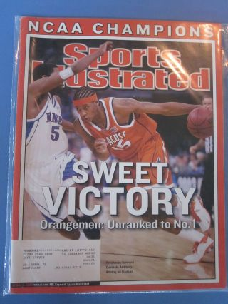 Carmelo Anthony Syracuse National Champs Sports Illustrated Si 2003