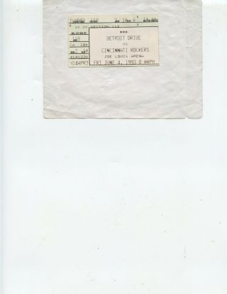 1993 Detroit Drive V Cincinnati Arena Football Ticket Stub (drive