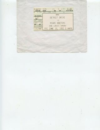 1993 Detroit Drive Vs.  Miami Arena Football Ticket Stub (drive