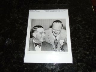 February 1,  1960 - 7.  5 X 7.  5 Ap Wire Photo - Pirates Branch Rickey And Fred Haney