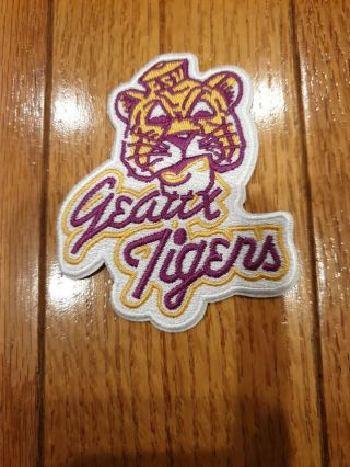 "Lsu Tigers Iron On Embroidered Patch 3.  5 "" X 3"""