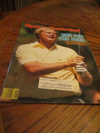 April 21,  1986 Jack Nicklaus Golf Sports Illustrated