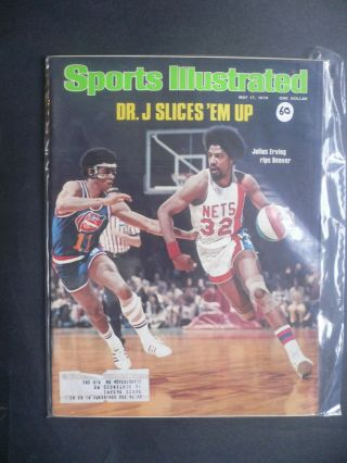 Sports Illustrated May 17,  1976 Julius Erving Dr J Nets Aba Flyers Leach
