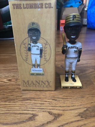 Manny Sanguillen Bobblehead Pittsburgh Pirates Lumber Co.  4 - 11 - 08 Sga