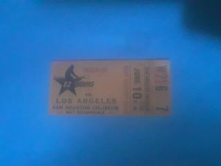 1974 World Team Tennis Ticket Stub Houston E - Z Riders Vs Los Angeles June 10th