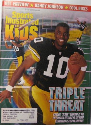 September 1996 Kordell Stewart Pittsburgh Steelers Sports Illustrated For Kids