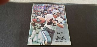 1972 Dallas Cowboys Ny Giants Nfl Pro Game Program