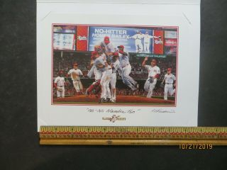 Cincinnati Reds Classic Moments Litho Homer Bailey No No Number Two Bill Purdom