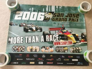 "2006 San Jose Grand Prix Auto Racing Poster 22 "" X 28 """