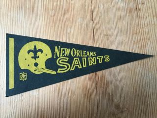 Vintage Mini Orleans Saints Pennant (5x12 In)